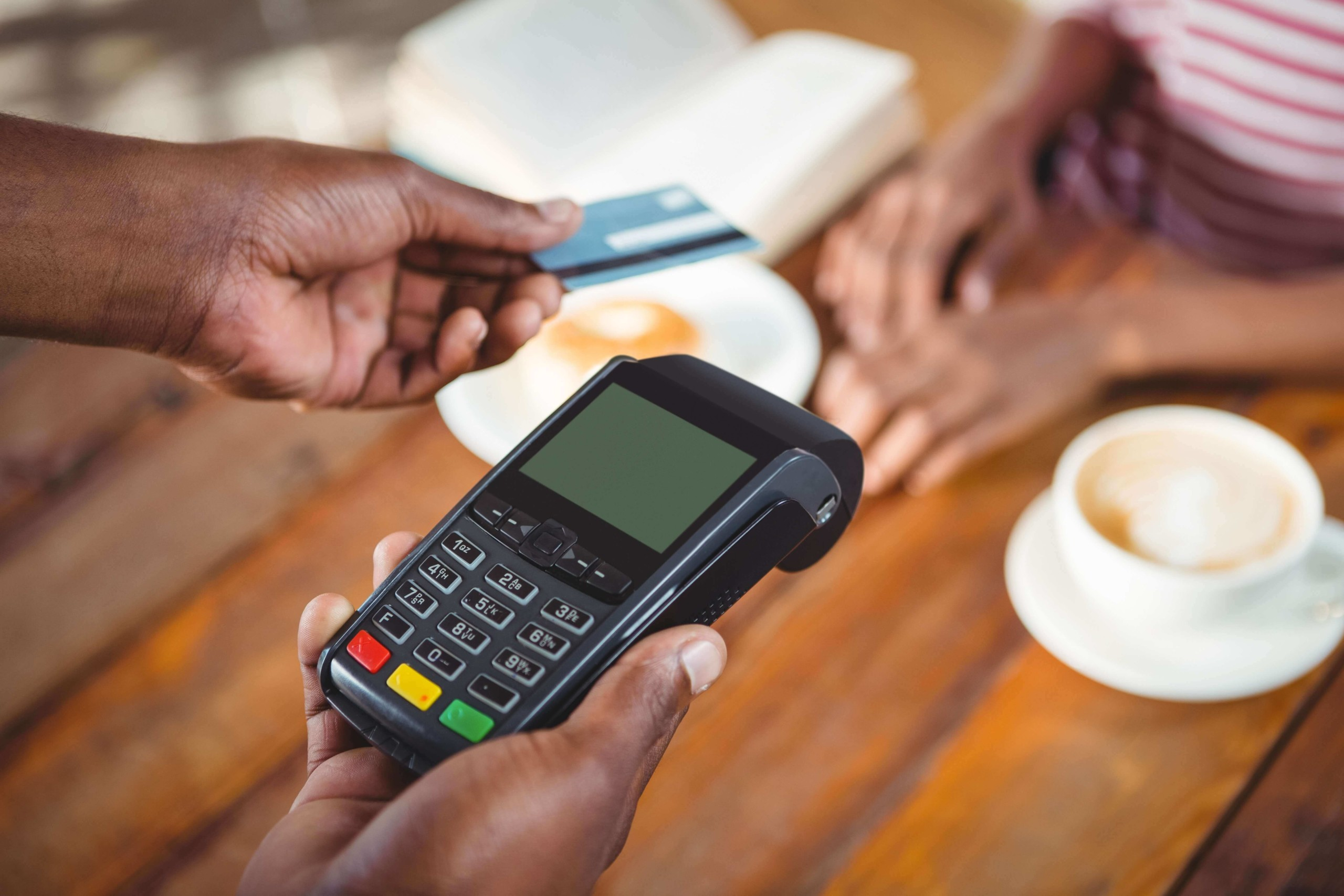 Merchant issuing a credit card refund to a customer or client.